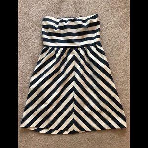 Navy/White Striped Dress w/ Pockets